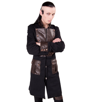 kabát férfi ADERLASS - Steam Punk Coat Denim Black-Brown, ADERLASS