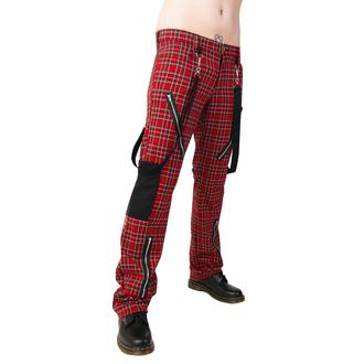 nadrág Black Pistol - Punk Pants Tartán Red-Green, BLACK PISTOL