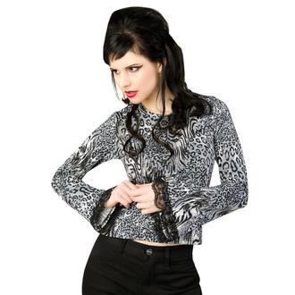 gót és punk póló női - Ladys Longsleeve Jersey Leppard Grey - ADERLASS, ADERLASS