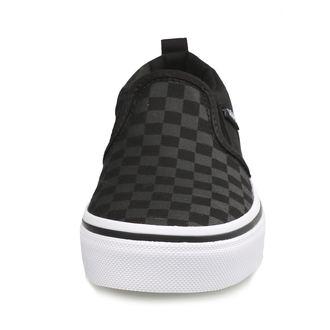 rövidszárú cipő gyermek - YT ASHER (Checker)Blk/Bl - VANS, VANS