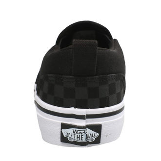 rövidszárú cipő gyermek - YT ASHER (Checker)Blk/Bl - VANS