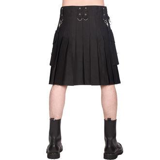 BLACK PISTOL Férfi skót szoknya - Denim - Fekete, BLACK PISTOL