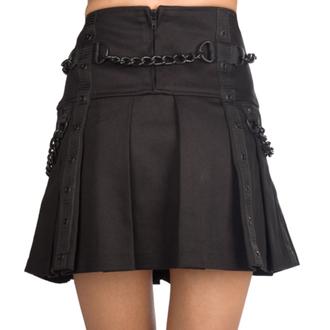 Black Pistol Női szoknya - Chain Denim - Fekete, BLACK PISTOL
