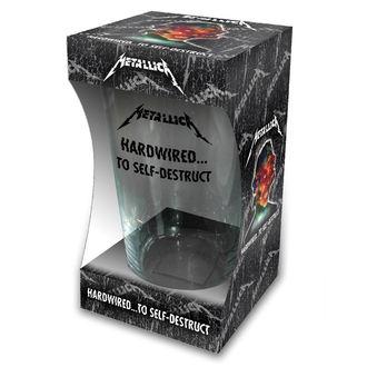 METALLICA Üvegpohár - HARDWIRED TO SELF DESTRUCT - RAZAMATAZ, RAZAMATAZ, Metallica