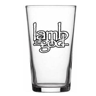 LAMB OF GOD üvegpohár- LOGO - RAZAMATAZ, RAZAMATAZ, Lamb of God