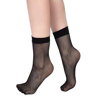 KILLSTAR Női zokni - COURTNEY FISHNET - FEKETE, KILLSTAR