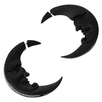 KILLSTAR Fülbevaló - Crescent moon - FEKETE, KILLSTAR