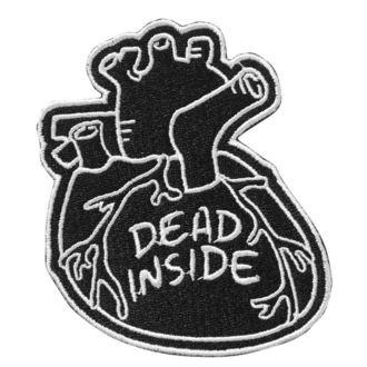 KILLSTAR Rávasalható felvarró - Dead Inside - FEKETE, KILLSTAR