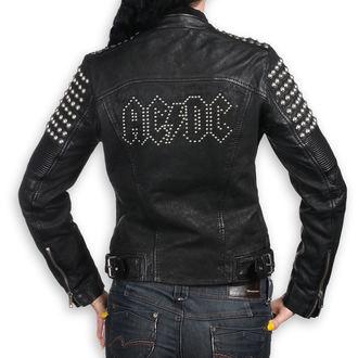 bőrdzseki női AC-DC - BLACK - NNM, NNM, AC-DC