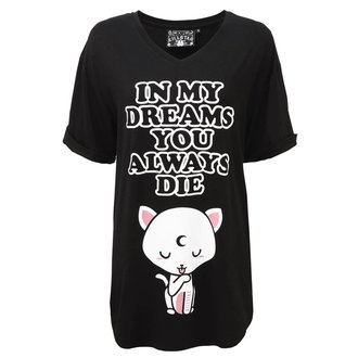 KILLSTAR Pizsama póló - DREAMS - FEKETE, KILLSTAR