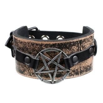 Karkötő Pentagram - brown, JM LEATHER