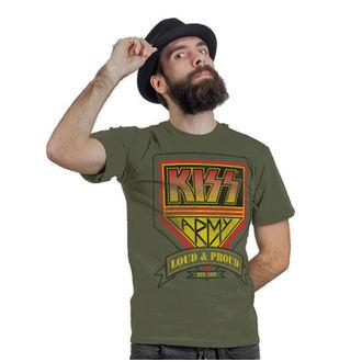 metál póló férfi Kiss - ARMY Distressed Logo - HYBRIS, HYBRIS, Kiss