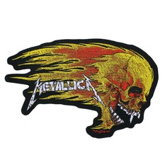 METALLICA Felvarró - FLAMING SKULL CUT OUT - RAZAMATAZ, RAZAMATAZ, Metallica
