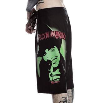 KILLSTAR férfi rövidszárú fürdőruhanadrág- Marilyn Manson - Ördög - Fekete, KILLSTAR, Marilyn Manson