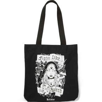 Vászontáska KILLSTAR - FIGHT LIKE A WITCH TOTE - FEKETE, KILLSTAR