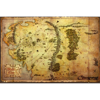 poszter The The Hobbit - Map - GB Posters, GB posters