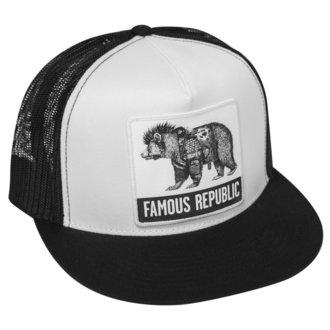 FAMOUS STARS & STRAPS Sapka - FAMOUS REPUBLIC - FEKETE FEHÉR, FAMOUS STARS & STRAPS