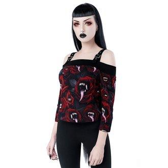 tričko dámské s 3/4 rukávem KILLSTAR - Genesis - Bardot, KILLSTAR