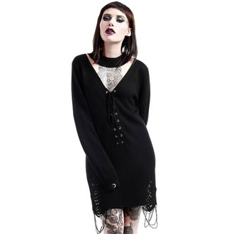 KILLSTAR női pulóver - Hell In Harlow Distress Knit - Fekete, KILLSTAR