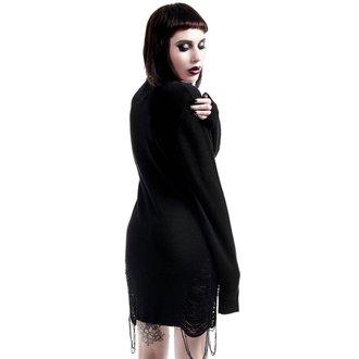 KILLSTAR női pulóver - Hell In Harlow Distress Knit - Fekete, KILLSTAR