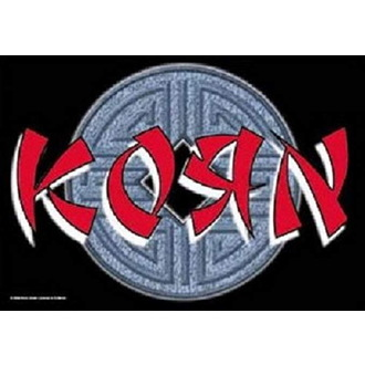 Korn Zászló - Ball Logo, HEART ROCK, Korn