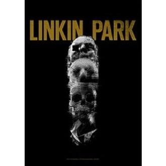 Linkin Park Zászló - Living - Koponya Totem, HEART ROCK, Linkin Park