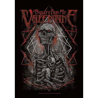 Bullet For my Valentine Zászló - Skeleton, HEART ROCK, Bullet For my Valentine