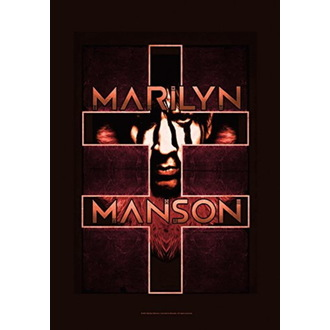Marilyn Manson Zászló - Double Cross, HEART ROCK, Marilyn Manson