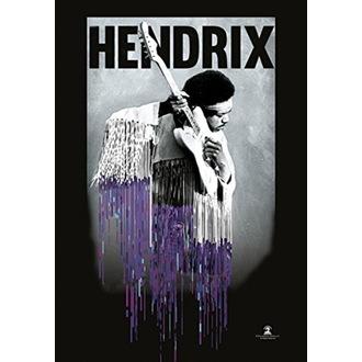 Jimi Hendrix Zászló - Dripping, HEART ROCK, Jimi Hendrix