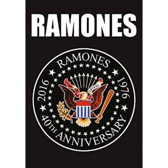 Ramones Zászló - 40th Anniversary Logo, HEART ROCK, Ramones