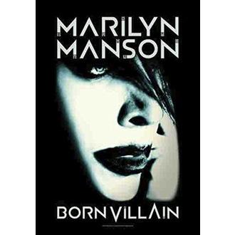 Marilyn Manson Zászló - Born Villain, HEART ROCK, Marilyn Manson