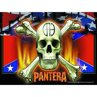 zászló Pantera - Flag & Skull, HEART ROCK, Pantera