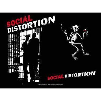 zászló Social Disortion - Slammer, HEART ROCK, Social Distortion