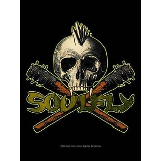 zászló Soulfly - Skull, HEART ROCK, Soulfly