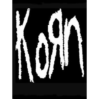 zászló KORN - Band Logo, HEART ROCK, Korn