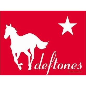 zászló Deftones - Redpony, HEART ROCK, Deftones