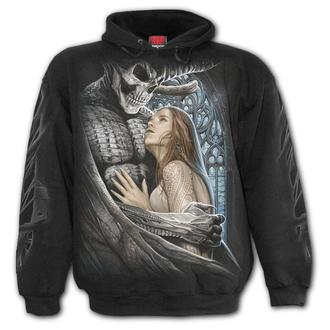 kapucnis pulóver férfi - DEVIL BEAUTY - SPIRAL - K060M451