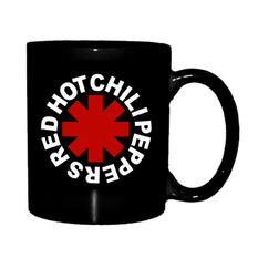 Red Hot Chili Peppers Bögre - Astrisk Logo - Fekete, NNM, Red Hot Chili Peppers