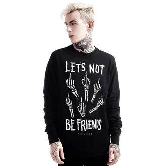 KILLSTAR unisex pulóver - Let's Not - Fekete, KILLSTAR