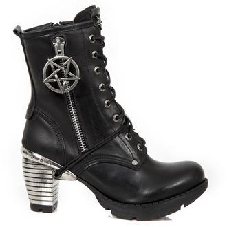 magassarkú cipő női - ITALI NEGRO, TRAIL NEGRO TACON ACERO-2 - NEW ROCK, NEW ROCK