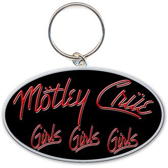 kulcstartó - kulcstartó Mötley Crüe (Girls, Girls, Girls Logo) - ROCK OFF, ROCK OFF, Mötley Crüe
