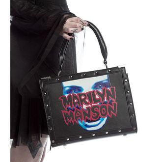 KILLSTAR kézitáska- MARILYN MANSON -  Fekete, KILLSTAR, Marilyn Manson