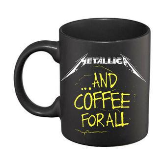 Metallica Kerámiai Bögre  - And Coffee For All Matt - Black, Metallica