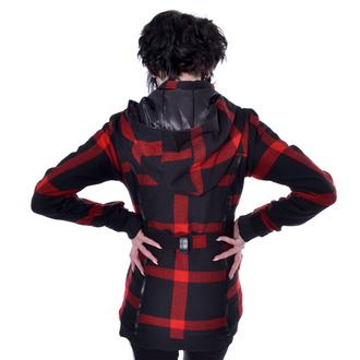 POIZEN INDUSTRIES Női kabát - TILLY - FEKETE / PIROS JELÖLJE BE, POIZEN INDUSTRIES