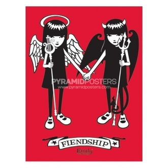 Poszter - Emily The Strange (Fiendship- PP31164 - Pyramid Posters