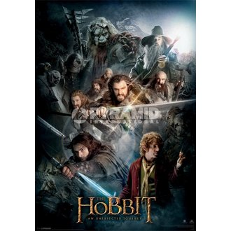 kép 3D The The Hobbit Dark Montage - Pyramid Posters, PYRAMID POSTERS