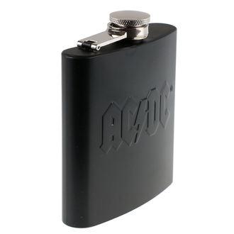 AC  /  DC flaska  - Hip Flask Embossed, AC-DC