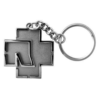 kulcstartó RAMMSTEIN - Logo Schlüsselanhänger - szürke - RS011