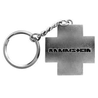 kulcstartó RAMMSTEIN - Logo Schlüsselanhänger - szürke, RAMMSTEIN, Rammstein
