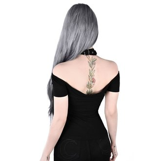 tričko dámské (top) KILLSTAR - Sundown Halter - BLACK, KILLSTAR